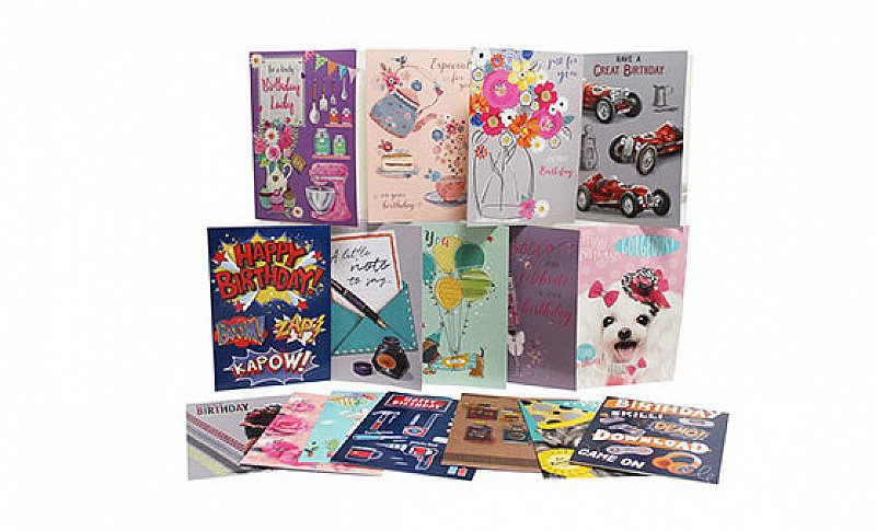 SAVE 85% on this Box Of 576 Greeting Cards - 48 Different Designs!