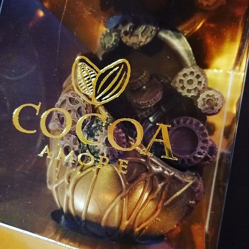 Luxurious Faberge style clockwork chocolate Easter eggs