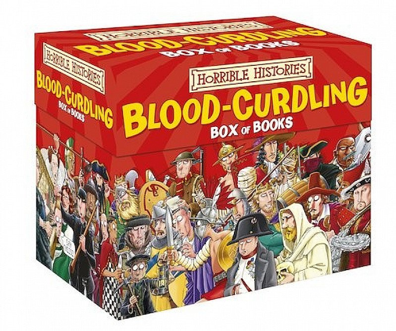SAVE 80% on Horrible Histories - Blood-Curdling Box Of Books!