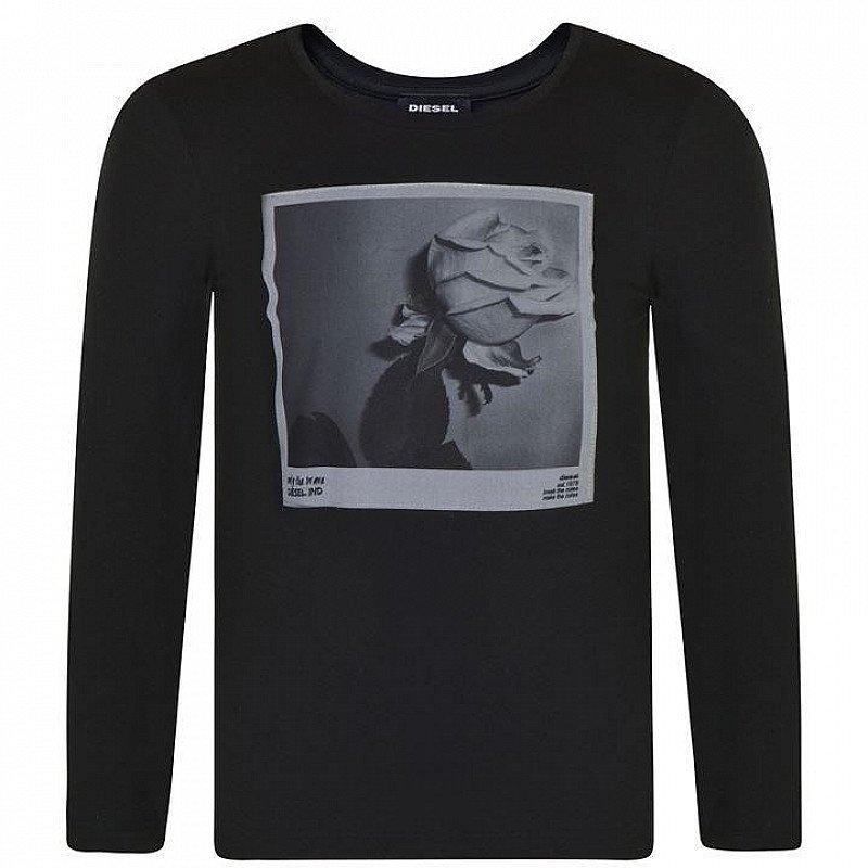 SAVE 68% - DIESEL Children Girls Rose Long Sleeved T Shirt