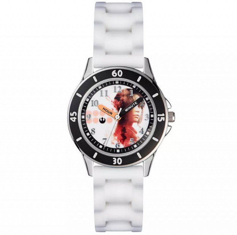 SAVE £5 on this Children's Time Teacher White Silicone Strap Watch!