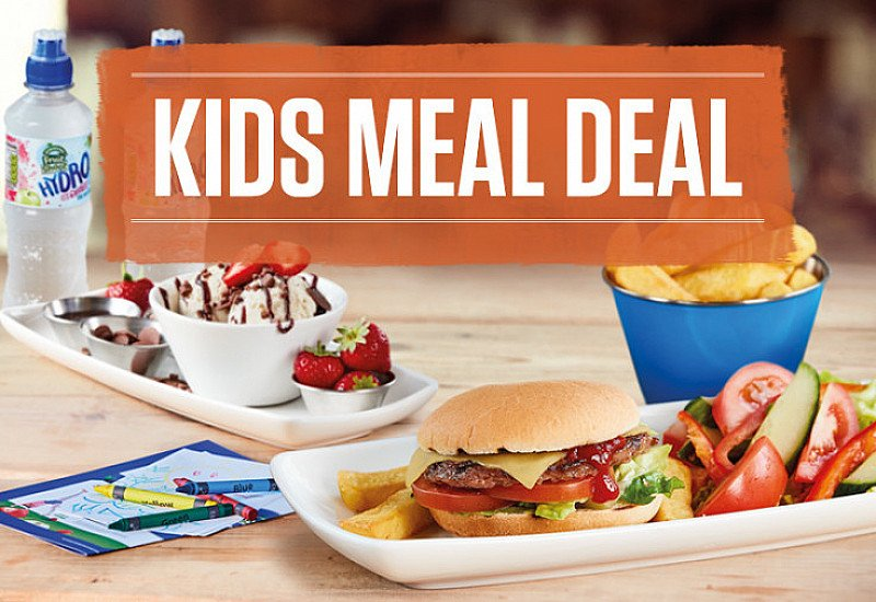KIDS MEAL DEAL - £4.99 over 5's, £3.99 under 5's!