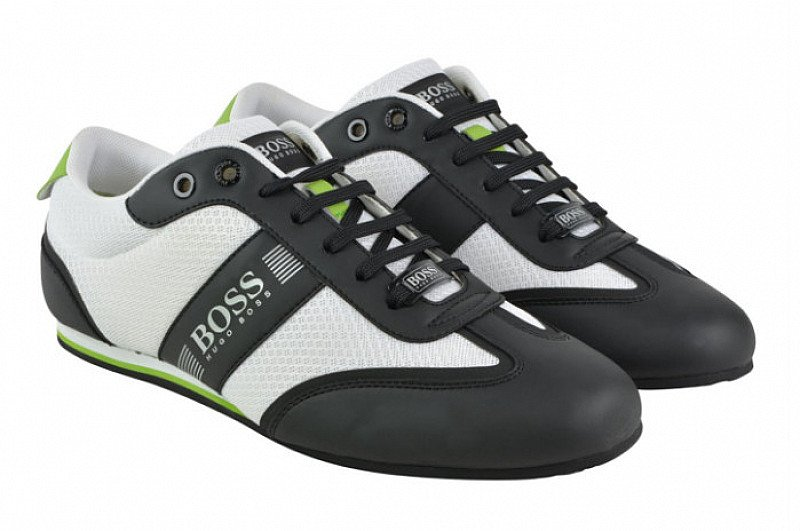 Get 30% OFF these BOSS GREEN Lighter Tech Low Top Trainers in Open White!