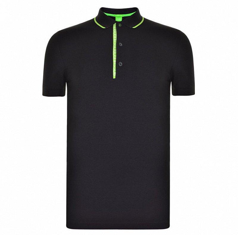 LESS THAN 1/2 PRICE - BOSS GREEN Paule Polo Shirt in Black!