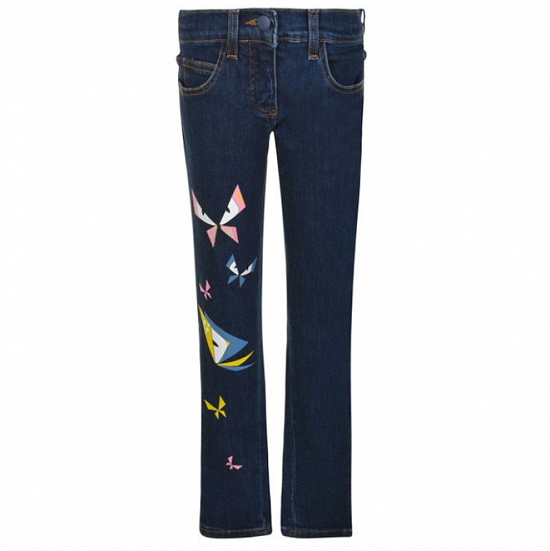 70% OFF - FENDI Children Girls Leg Logo Jeans!