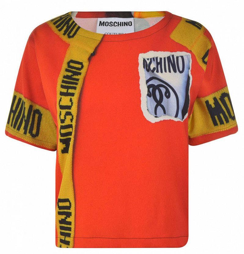 SAVE OVER £300 on this MOSCHINO Editorial T Shirt!