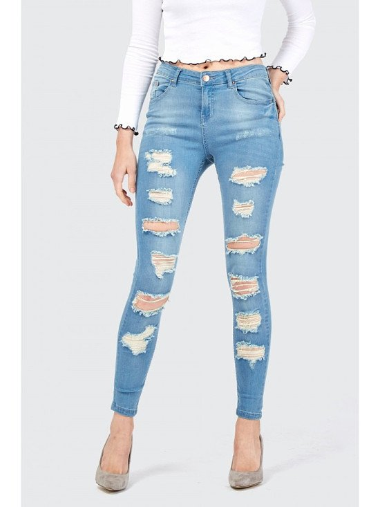 20% off Stella All Over Ripped Skinny Jean, now just £15.99!