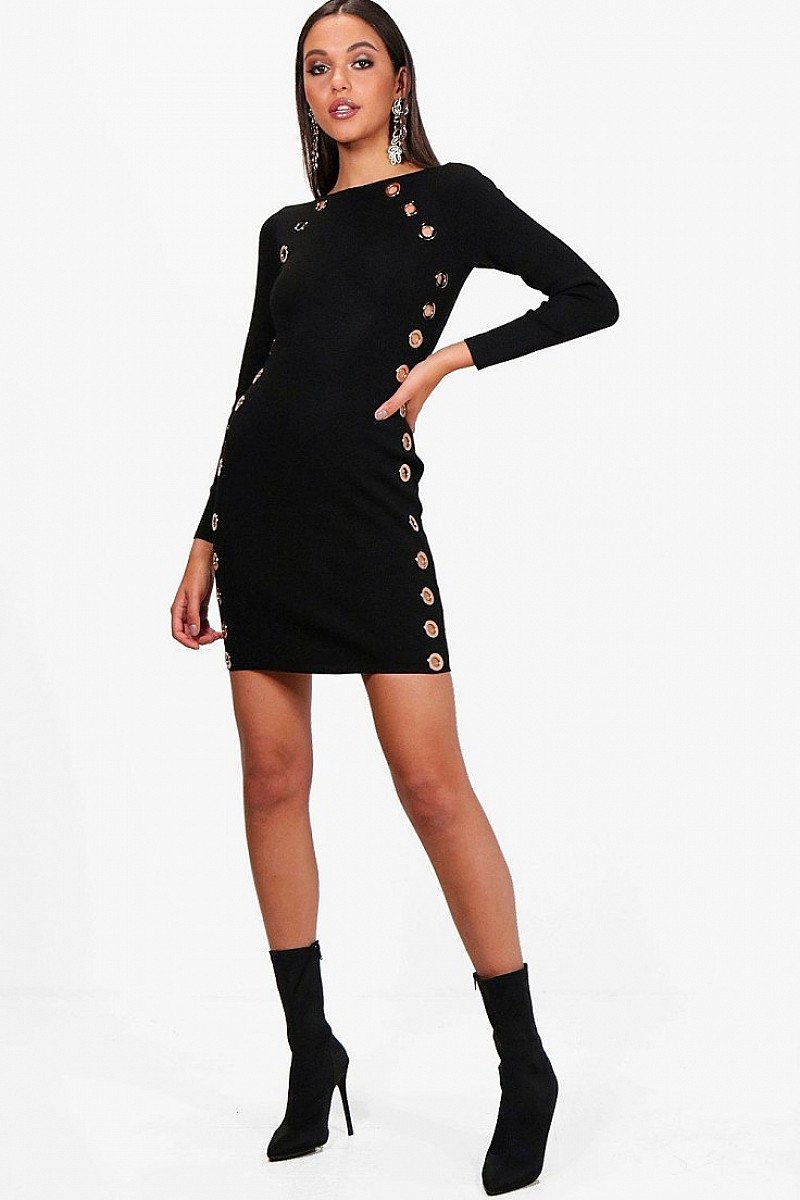 SAVE 66% on this Petra Eyelet Detail Bandage Bodycon Dress!