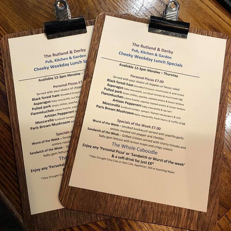 Don't miss out on your last chance this week to enjoy our 'Cheeky Weekday' lunch specials