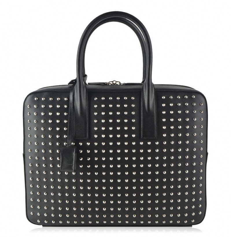 SAINT LAURENT Studded Tote Bag - LESS THAN 1/2 PRICE!