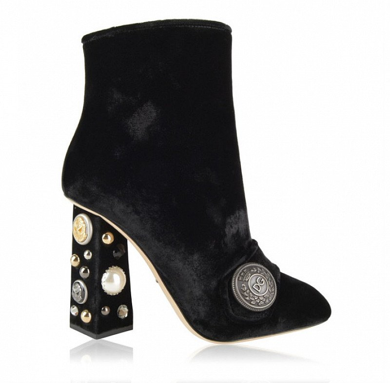 70% OFF - DOLCE AND GABBANA 105 Velvet Boots!