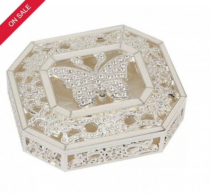 SAVE 24% on this Special Memories Butterfly Trinket Box!