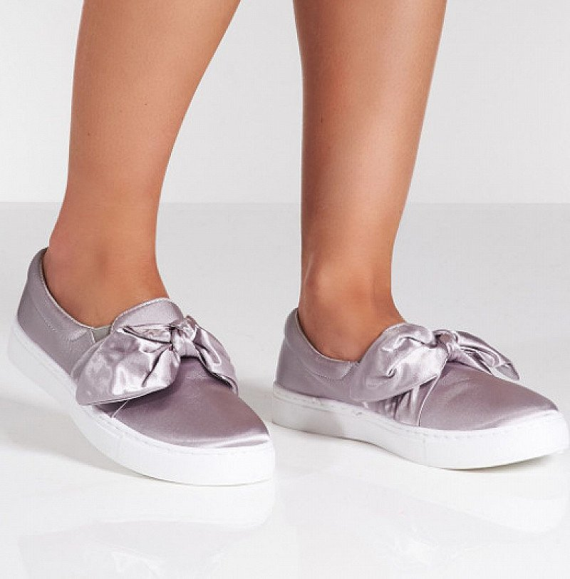 SAVE 20% on Satin Bow Front Slip On Trainers!