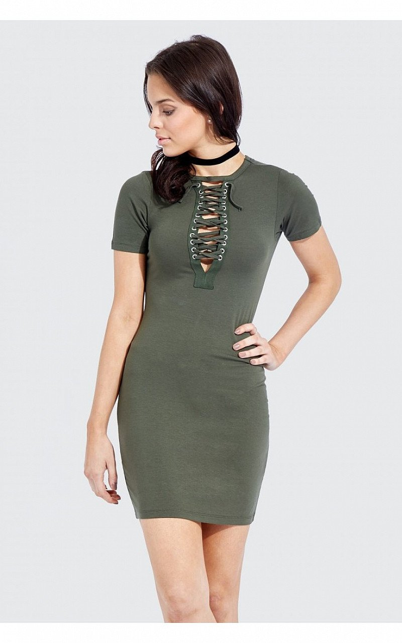 SAVE £7 on this Eyelet Trim Bodycon Dress!