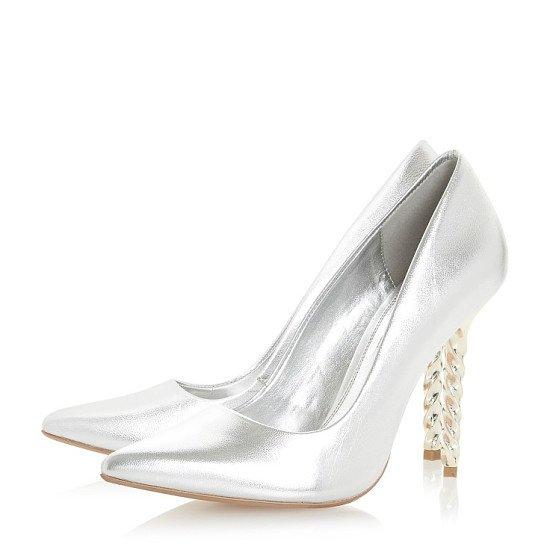 LESS THAN 1/2 PRICE! - DUNE Aspiration Twist Stiletto Court Shoes