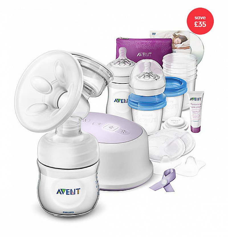 EXCLUSIVE - Philips Avent Natural Breast Feeding Support Set - SAVE £35!