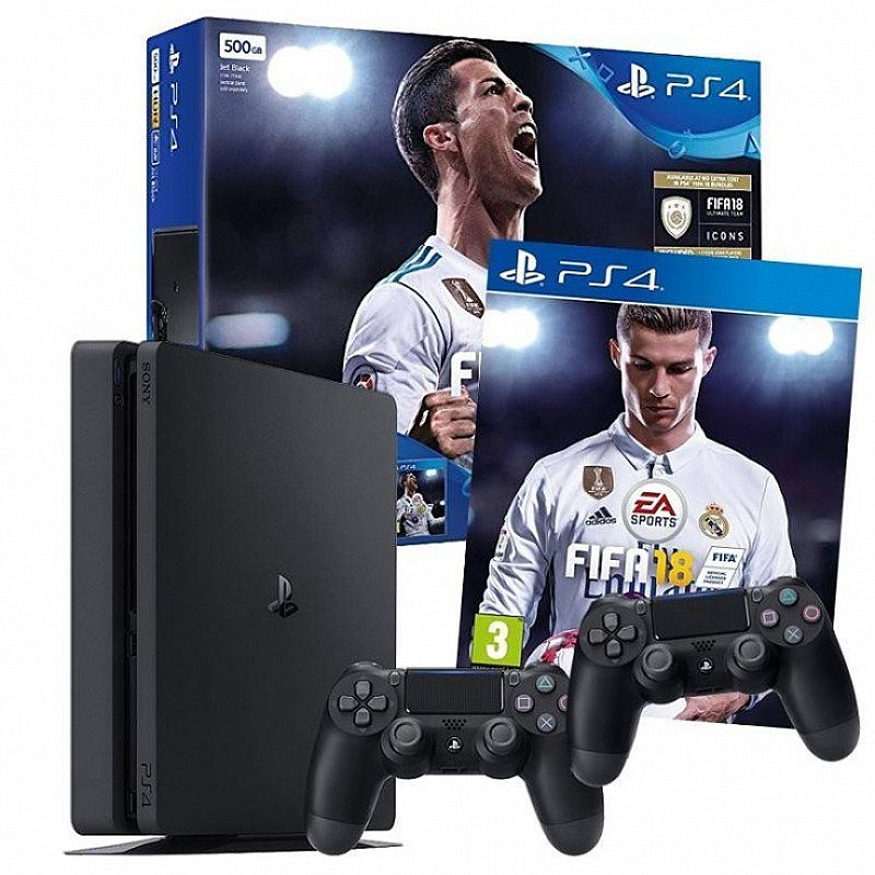 PlayStation 4 500GB with Extra Controller and FIFA 18 - ONLY £319.99!