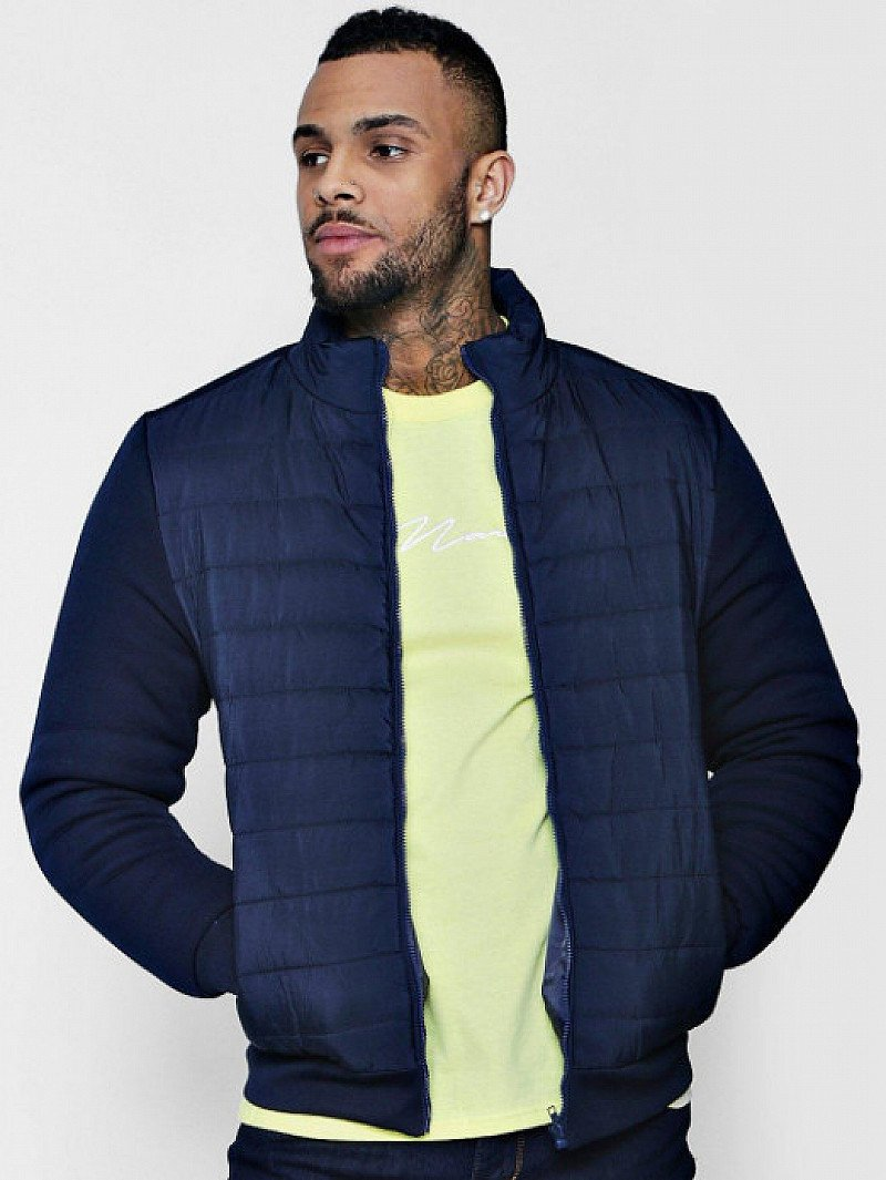 60% OFF - Men's Quilted Ponte Sleeve Jacket!