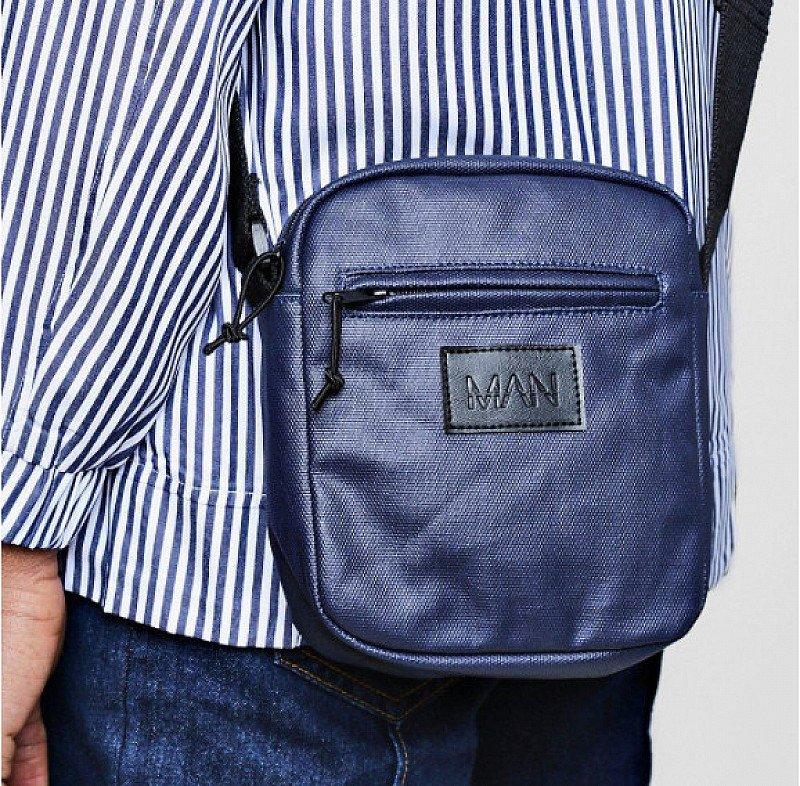 Waxed Canvas MAN Emboss Messenger Bag - SAVE 60%