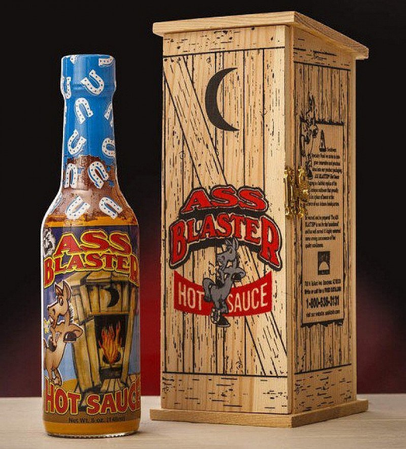 ASS BLASTER Hot Sauce with Outhouse - NOW 1/2 PRICE!