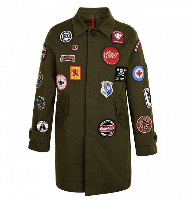 SAVE £130 on DSQUARED2 Children Unisex Badge Mac Jacket!