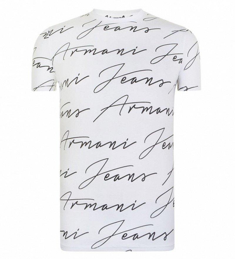 29% OFF -  Men's ARMANI JEANS Signature Print T Shirt!