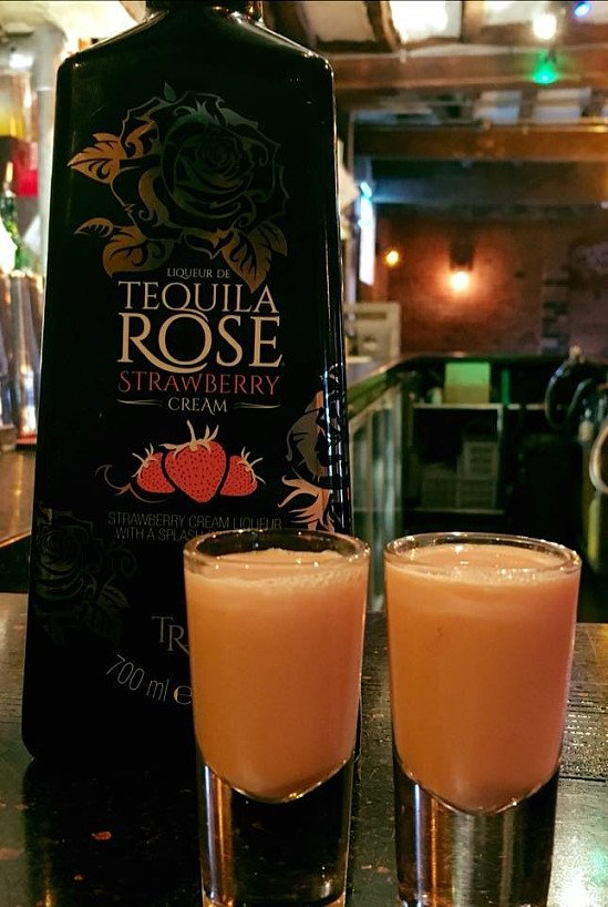 Creamy - Strawberry Tequila version now at the bar!