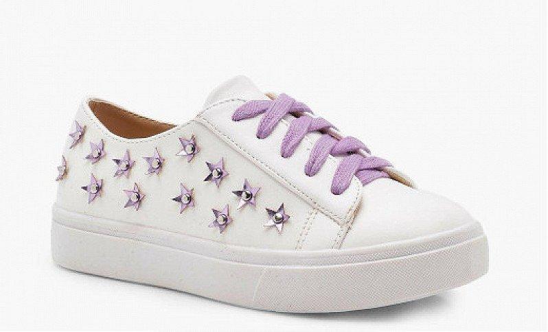 64% OFF Girls Floral Embellished Trainer - ONLY £5!