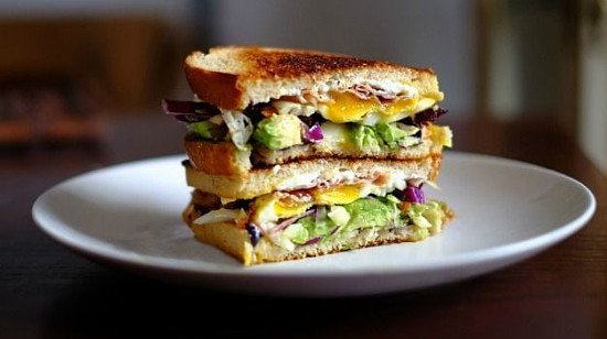 Try one of our Grilled Sour Dough Sandwiches - The Veggie One £5.45!