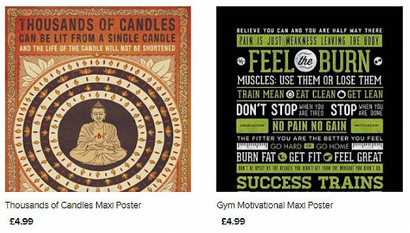 Need some daily inspiration? We have lots of Motivational Posters for ONLY £4.99!