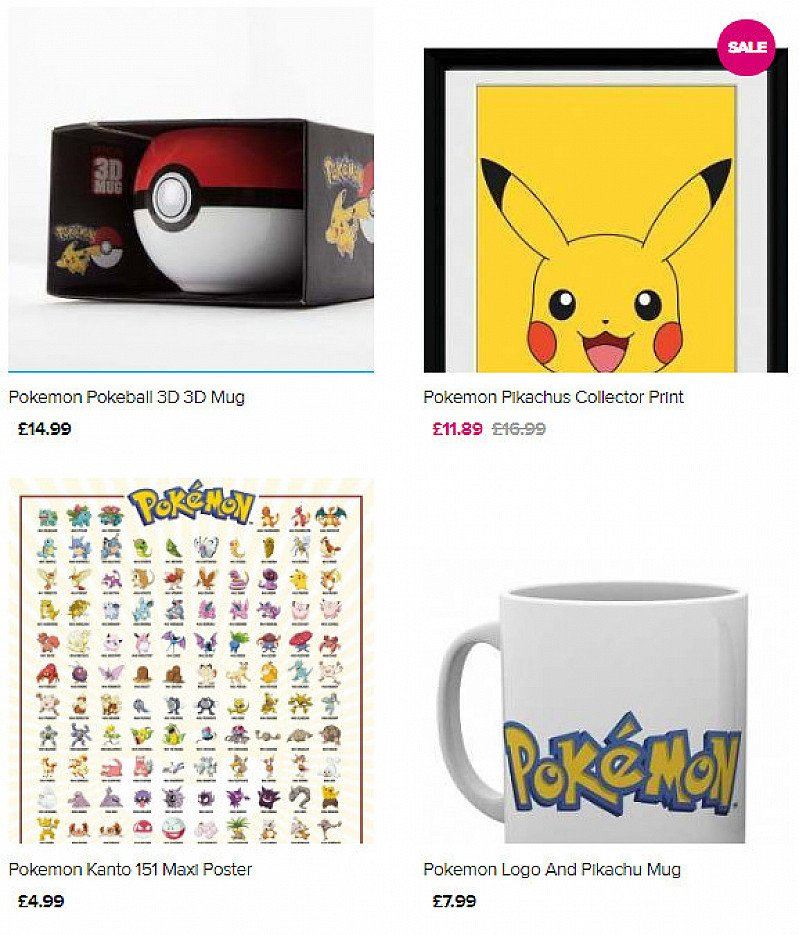 Shop & SAVE on Pokemon Merchandise from £1.99!