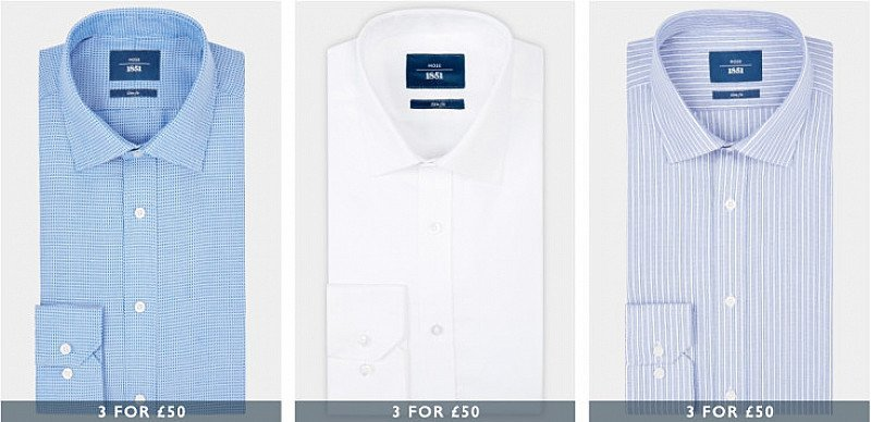 3 Men's Shirts for £60 - SAVE up to £37!