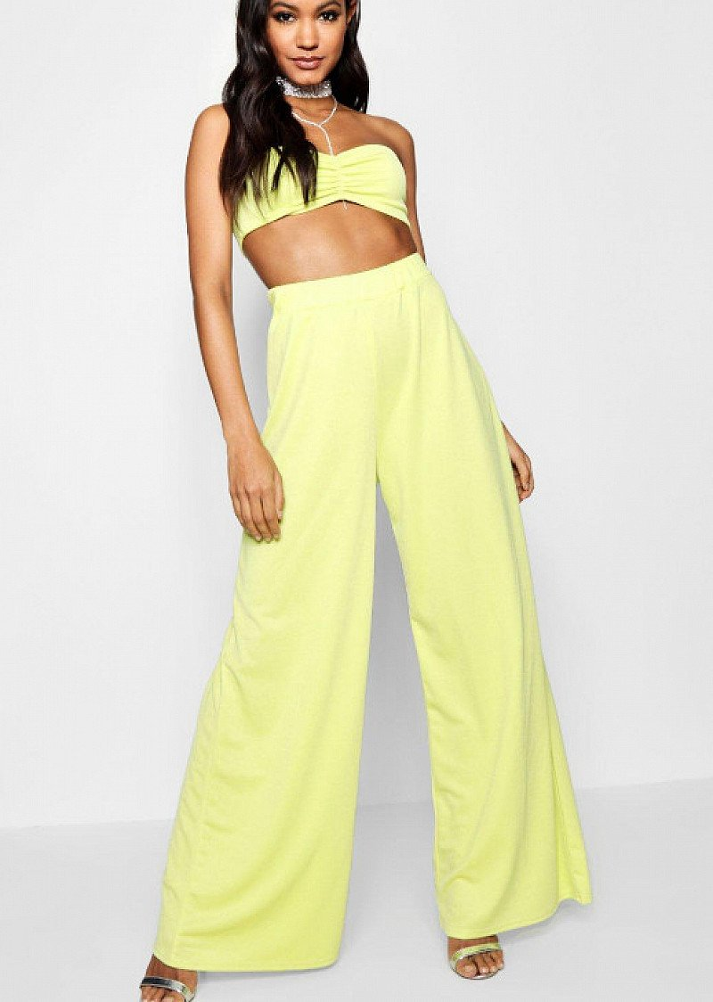 SAVE 54% on this Wide Leg Ruched Bandeau Co-ord Set!