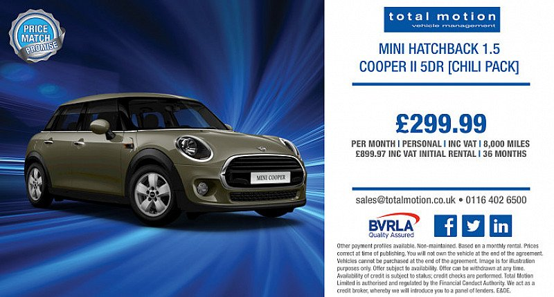 Mini 1.5 Cooper [Chili Pack] | £299.99 (incl. VAT) p/m with low initial rental!