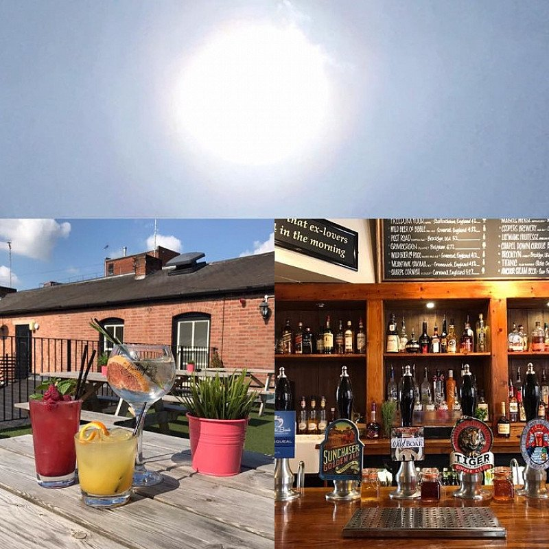 Today is the day to get out of the office and enjoy the sunshine on our glorious 'Roof Terrace