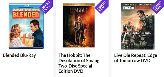 COMBO DEAL - 10 Blu-Rays / DVDs for ONLY £10!
