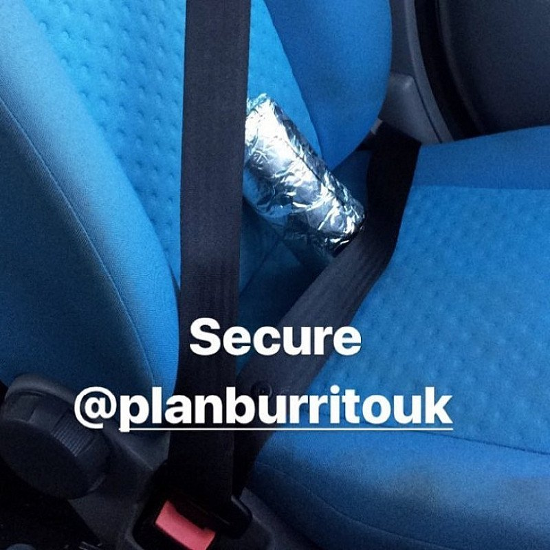 One of our valued customers takes extra care when taking his Burrito home