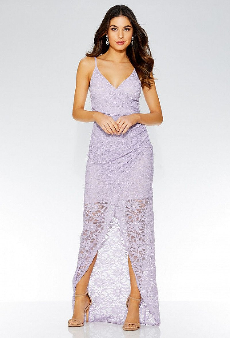 40% OFF - Lilac Glitter Wrap Front Maxi Dress!
