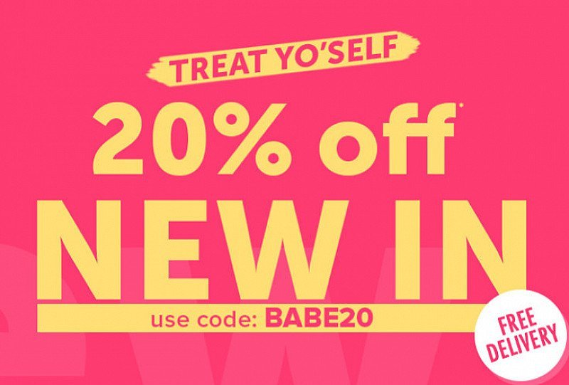Get 20% OFF New In!