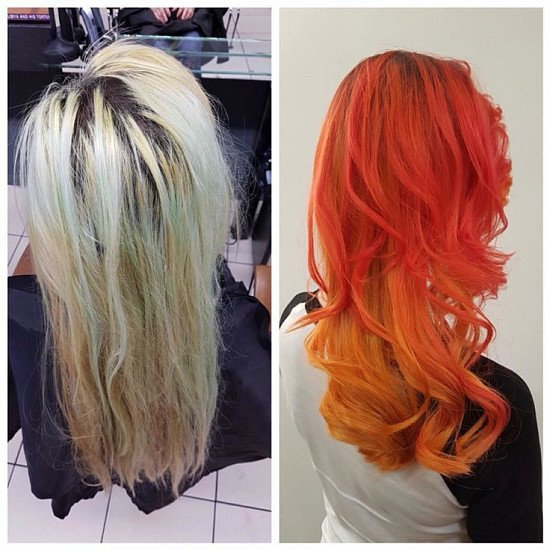 Fantastic colour transformation by Warren and great cut by Aaron!