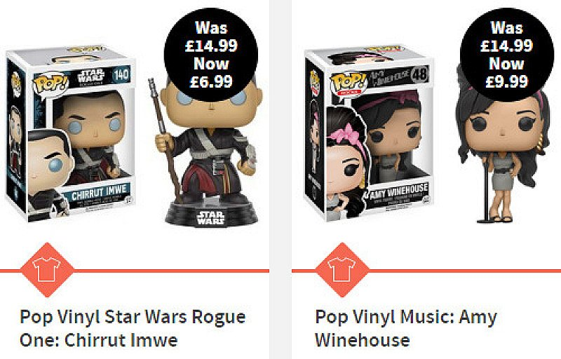 Up to 70% OFF standard and pocket POP! Vinyl products!
