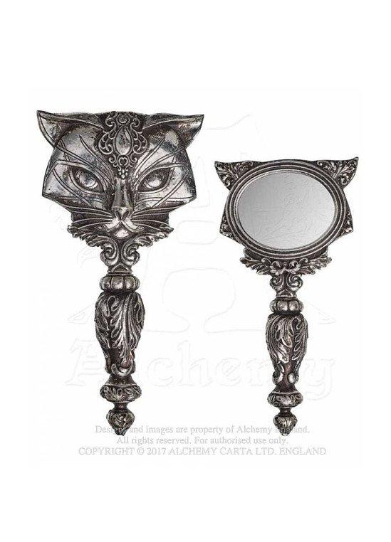 Alchemy Gothic Sacred Cat Hand Mirror