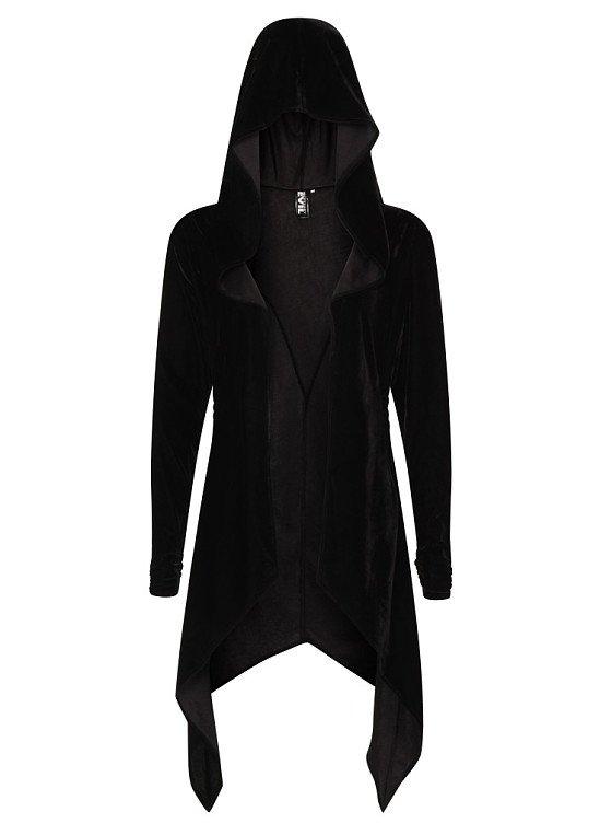Necessary Evil Artemis Black Velvet Gothic Drape Hoody