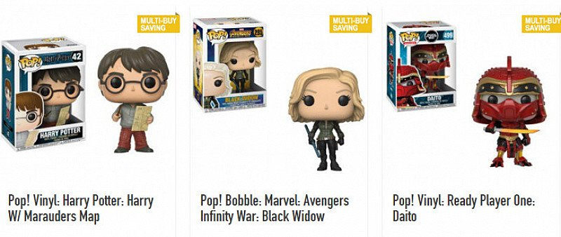 FUNKO POP! FIGURES 2 for £25 or 3 for £35!