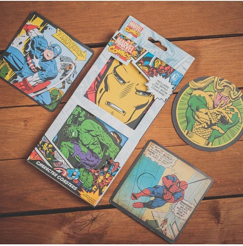 1/2 PRICE - 20 Marvel Comics Character Coasters, NOW £2.99!