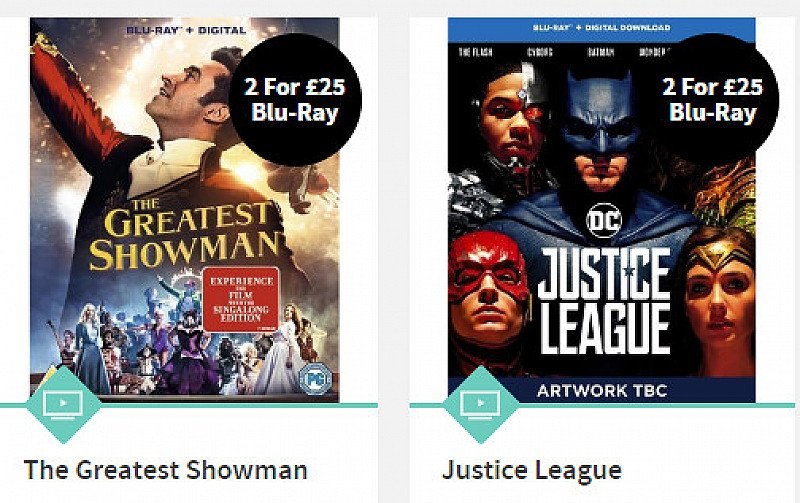 Blu-Ray 2 FOR £25 - SAVE UP TO 17%!