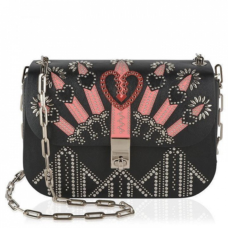 SAVE £645 on this VALENTINO Love Blade Embroidered Chain Bag!