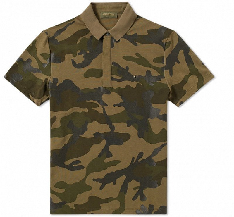 Save a Huge £244 on this Valentino Bonded Camo Polo!