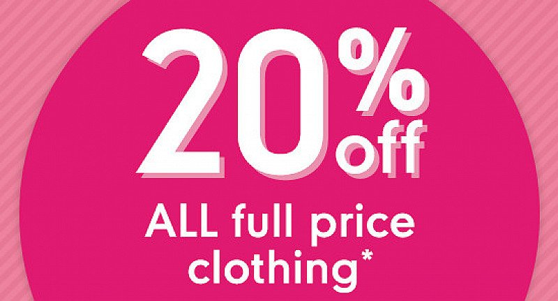 SAVE 20% on clothes!