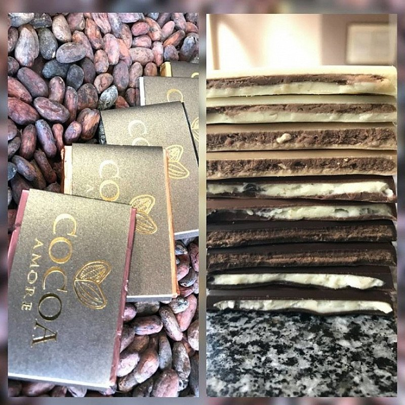 We have just launched something very special! Our filled chocolate bars with 5 different fillings!